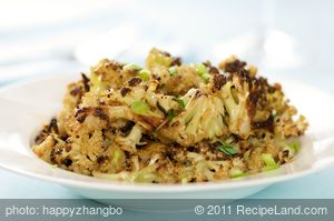 Roasted Cauliflower with Garlicky Soy-Ginger Sauce