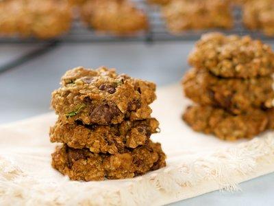 Oatmeal Zucchini Chocolate Chip and Walnut Cookies
