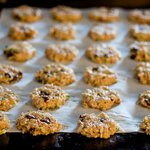 Leave 1/2-inch space between cookies,