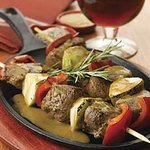 Pear & Lamb Kebabs With Harpoon Ale-Rosemary Pan Sauce