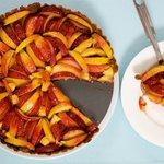 Fresh Peach and Plum Tart