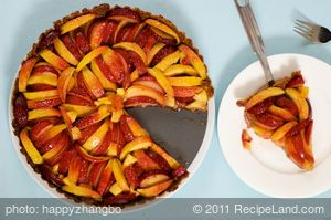 Fresh Peach and Plum Tart