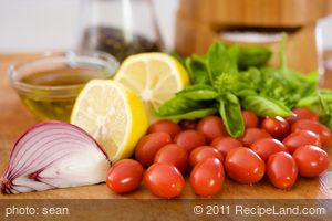 Cherry Tomato and Basil Vinaigrette
