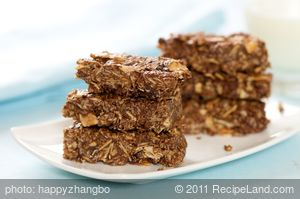 Double Almond and Chocolate Granola Bars