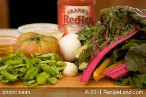 Swiss Chard and Heirloom Tomato Frittata