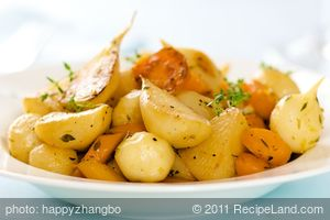 Lemony Glazed Turnips and Carrots