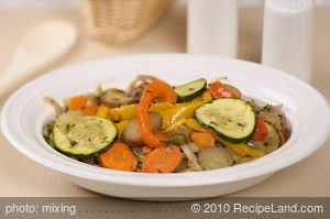 Colorful Roasted Fresh Vegetables