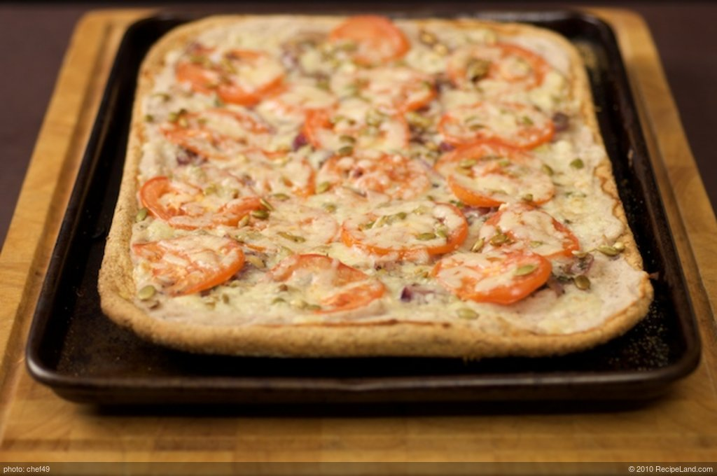 Caramelized Onion, White Bean and Cheddar Flatbread