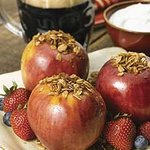 Vermont Maple Syrup and Porter-Poached Apples