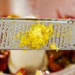Add some freshly grated lemon zest.