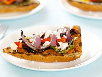 Grilled Vegetable Sandwich with Tomato and Olives Tapenade