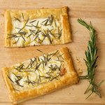 Goat Cheese, Rosemary and Lemon Tart