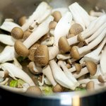 Stir in the mushrooms,