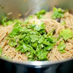 and stir in the cilantro leaves until well combined.
