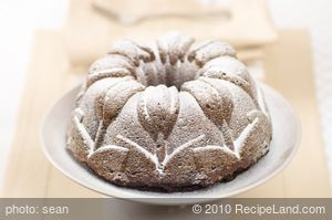 Chocolate Walnut and Flaxseed Bundt Cake