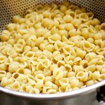 Bring a large pot of salted water to a boil, and add the pasta.