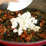 Stir in the goat cheese.