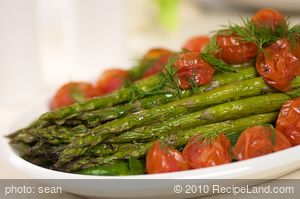 Asparagus and Roasted Tomatoes with Citrus