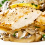 Time to enjoy the juiciness and tenderness of the chicken with mushroom sauce.