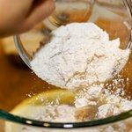 Add the flour.
