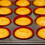Bake in 425 degree F oven 20 minutes until muffins are golden brown.