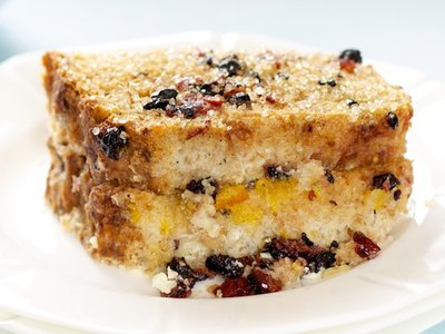 Orange Marmalade Vanilla Bean Bread Pudding