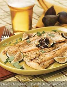 Wood-Grilled Trout with Mission Fig Compound Butter