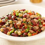 Quick, easy and tasty bean salad.