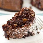Super moist, chocolaty and nutty. Delicious.