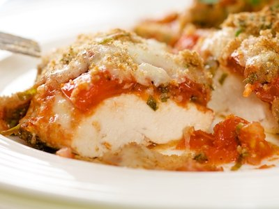 Cheesy Tomato Basil Chicken Breasts