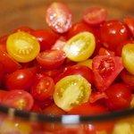 Prepare the tomatoes.