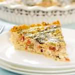 A tasty and light quiche.