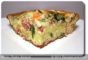 Bacon and Mozzarella Frittata