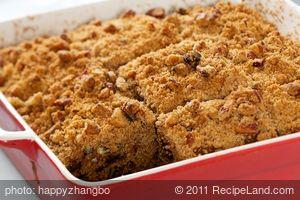 Acorn Squash Cake with Pecan Streusel