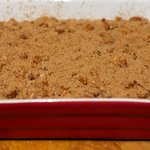 Sprinkle with Streusel Topping.