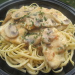 Chicken Marsala with Linguine