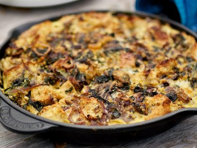 Feta, Ricotta and Swiss Chard Frittata