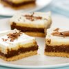 Chocolate Pumpkin Layered Cheesecake Bars