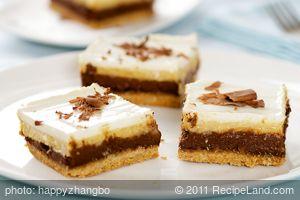 Chocolate Pumpkin Layered Cheesecake Bars