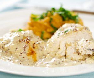 Easy One Pan Triple-Mustard Chicken Dijon