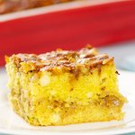 There is no doubt that you will love this cheesy, moist and tasty corn bread.