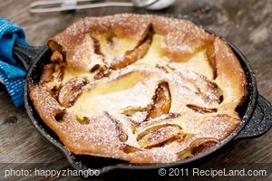 One Pan Peach Pancake