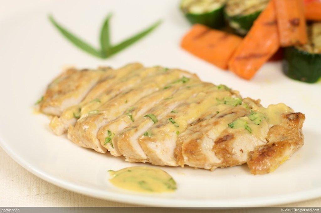 Grilled Tarragon Chicken with Mustard Sauce
