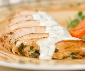 Marjoram Grilled Chicken with Dill/Chive Sauce