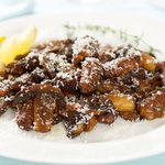Cheesy, earthy, and flavorful roasted gnocchi with sauteed balsamic mushrooms.