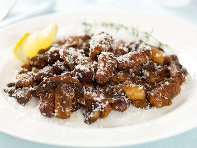 Roasted Porcini Gnocchi with Sauteed Mushrooms