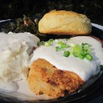 Chicken Fried Steak with Collard Greens, Mashed Potatoes and Country Gravy