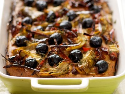 Artichoke Hearts, Olives, Sun-Dried Tomato and Red Chili Bread