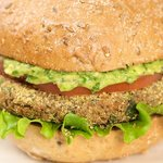Bean Veggie Burgers with Mexican Spicy Guacamole
