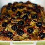 Artichoke Hearts, Olives, Sun-Dried Tomato and Red Chili Bread